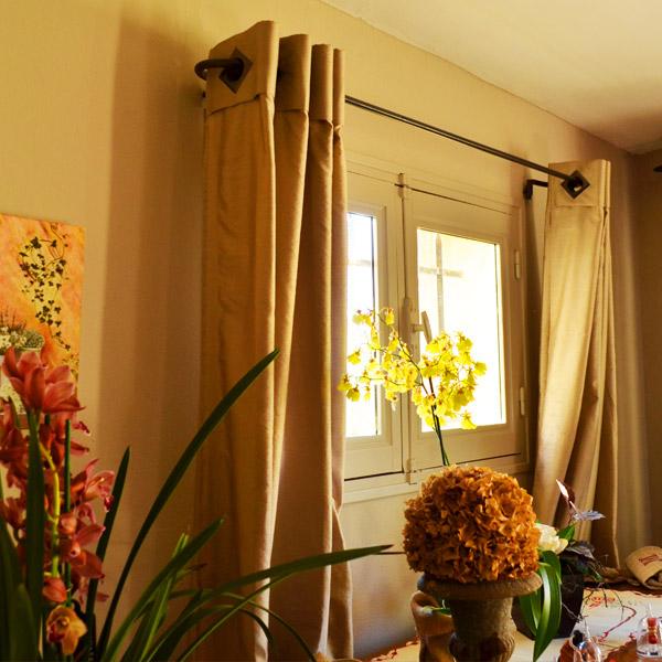 tringle rideaux provencale simple sur mesure en fer forg tringle a. Black Bedroom Furniture Sets. Home Design Ideas